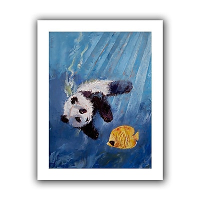 "ArtWall ""Panda Diver"" Unwrapped Canvas Art By Michael Creese, 18"" x 14"""