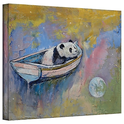 "ArtWall ""Panda Moon"" Gallery Wrapped Canvas Art By Michael Creese, 36"" x 48"""