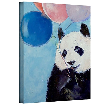 "ArtWall ""Panda Party"" Gallery Wrapped Canvas Art By Michael Creese, 32"" x 24"""