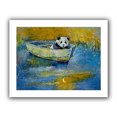 "ArtWall ""Panda Sailor"" Unwrapped Canvas Art By Michael Creese, 24"" x 32"""