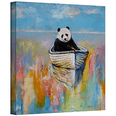 """ArtWall """"Panda"""" Gallery Wrapped Canvas Art By Michael Creese, 18"""" x 18"""""""
