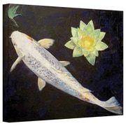 "ArtWall ""Platinum Ogon Koi"" Gallery Wrapped Canvas Arts By Michael Creese"