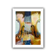 "ArtWall ""Violin"" Unwrapped Canvas Arts By Michael Creese"