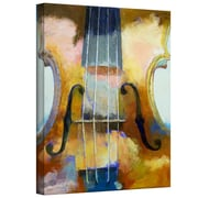 "ArtWall ""Violin"" Gallery Wrapped Canvas Arts By Michael Creese"