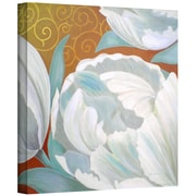 """ArtWall """"Christy's Tulips"""" Gallery Wrapped Canvas Art By Herb Dickinson, 18"""" x 18"""""""