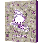 """ArtWall """"Snow Much Fun Girl"""" Gallery Wrapped Canvas Art By Felittle People, 24"""" x 32"""""""