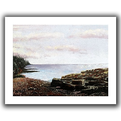 "ArtWall ""Lake Side"" Flat Unwrapped Canvas Art By Gene Foust, 14"" x 18"""