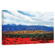 "ArtWall ""Mountain Side Living"" Gallery Wrapped Canvas Art By Gene Foust, 12"" x 24"""