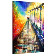 "ArtWall ""Rainy Paris Evening"" Gallery Wrapped Canvas Art By Susi Franco, 32"" x 26"""
