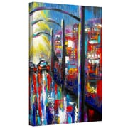 "ArtWall ""8 O'clock Street Lights"" Gallery Wrapped Canvas Art By Susi Franco, 24"" x 18"""