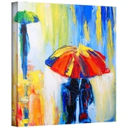 """ArtWall """"Downpour"""" Gallery Wrapped Canvas Arts By Susi Franco"""