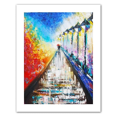 "ArtWall ""Paris Sweethearts"" Unwrapped Canvas Art By Susi Franco, 48"" x 36"""