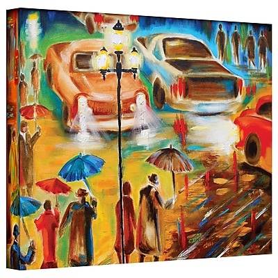 "ArtWall ""In Italy Even Rain is Beautiful"" Gallery Wrapped Canvas Art By Susi Franco, 14"" x 18"""