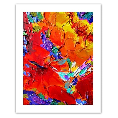 "ArtWall ""Charlits Floral"" Unwrapped Canvas Art By Susi Franco, 48"" x 36"""