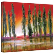 """ArtWall """"Tuscan Cypress Sunset"""" Gallery Wrapped Canvas Art By Susi Franco, 36"""" x 48"""""""