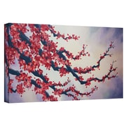 "ArtWall ""Red Cherry Blossom"" Gallery Wrapped Canvas Arts By Shiela Gosselin"