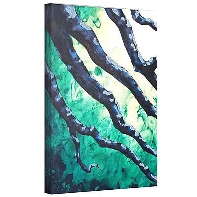 """ArtWall """"Emerald"""" Gallery Wrapped Canvas Art By Shiela Gosselin, 36"""" x 48"""""""