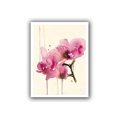 "ArtWall ""Orchids II"" Flat Unwrapped Canvas Art By Karin Johannesson, 48"" x 36"""