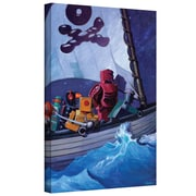 "ArtWall ""Rob Pirates"" Gallery Wrapped Canvas Art By Eric Joyner, 14"" x 18"""