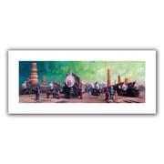 """ArtWall """"Train Yard"""" Flat Unwrapped Canvas Arts By Eric Joyner"""