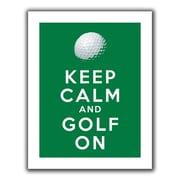 """ArtWall """"Keep Calm and Golf On"""" Flat Unwrapped Canvas Art By Art D. Signer, 14"""" x 18"""""""