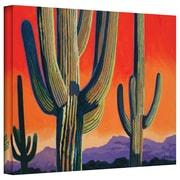 "ArtWall ""Saguaro Dawn"" Gallery Wrapped Canvas Arts By Rick Kersten"
