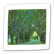 "ArtWall ""Beech Forest"" Flat/Rolled Canvas Art By Gustav Klimt, 18"" x 18"""