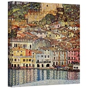 """ArtWall """"Moving Water"""" Gallery Wrapped Canvas Art By Gustav Klimt, 36"""" x 48"""""""