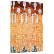 "ArtWall ""The Black Feather"" Hat Gallery Wrapped Canvas Arts By Gustav Klimt"