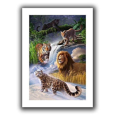 "ArtWall ""Big Cats"" Flat Unwrapped Canvas Art By Jerry Lofaro, 32"" x 48"""