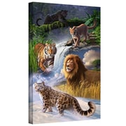 "ArtWall ""Big Cats"" Gallery Wrapped Canvas Arts By Jerry Lofaro"