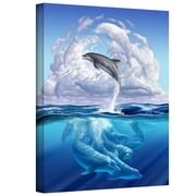 "ArtWall ""Dolphonic Symphony"" Gallery Wrapped Canvas Arts By Jerry Lofaro"