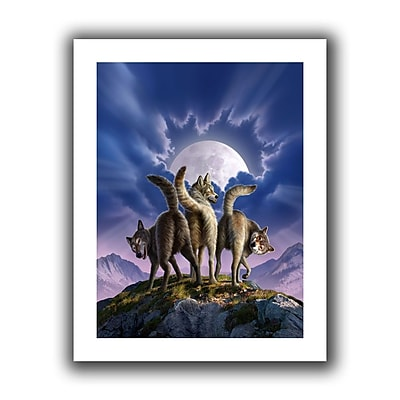 "ArtWall ""Full Moon"" Flat Unwrapped Canvas Art By Jerry Lofaro, 14"" x 18"""