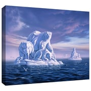 "ArtWall ""Iceberg"" Gallery Wrapped Canvas Arts By Jerry Lofaro"