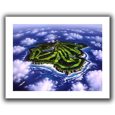 "ArtWall ""Paradise Island"" Flat Unwrapped Canvas Art By Jerry Lofaro, 14"" x 18"""
