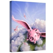 """ArtWall """"Piggies"""" Gallery Wrapped Canvas Arts By Jerry Lofaro"""