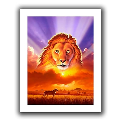 "ArtWall ""The Lion King"" Unwrapped Flat Canvas Art By Jerry Lofaro, 24"" x 32"""