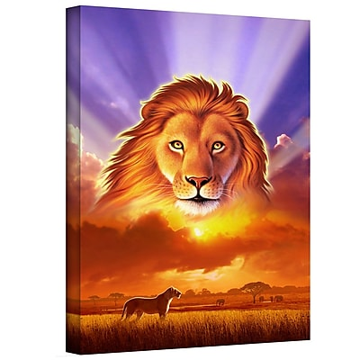 "ArtWall ""The Lion King"" Gallery Wrapped Canvas Art By Jerry Lofaro, 18"" x 24"""