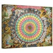 "ArtWall ""Pyxis Nautica Compass Charte"" Gallery Wrapped Canvas Art, 14"" x 18"""