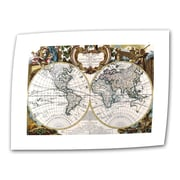 "ArtWall ""Antique World Map Circa 1499"" Unwrapped Canvas Art, 12"" x 18"""