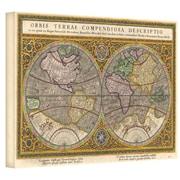 "ArtWall ""Orbis Terrae Compendiosa..."" Gallery Wrapped Canvas Art By Rumold Mercator, 12"" x 18"""