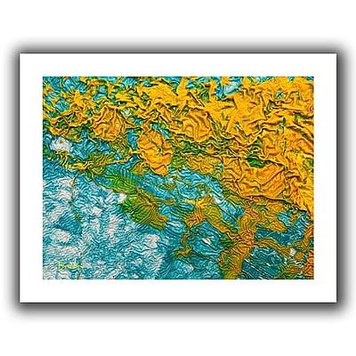 Antonio Raggio 'Waves' Unwrapped Canvas, 12'' x 36''