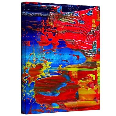Antonio Raggio 'Pink Petals' Unwrapped Canvas, 12'' x 18''