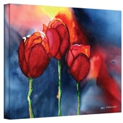 """ArtWall """"Tulips"""" Gallery Wrapped Canvas Art By Dan McDonnell, 14"""" x 18"""""""