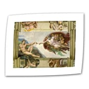 """ArtWall """"The Creation of Adam"""" Rolled Canvas Arts By Michelangelo"""