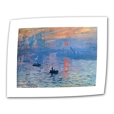 "ArtWall ""Sunrise"" Flat/Rolled Canvas Art By Claude Monet, 24"" x 32"" (0MON002A2432R)"