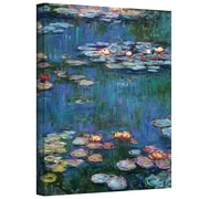 "ArtWall ""Water Lilies"" Gallery Wrapped Canvas Arts By Claude Monet"