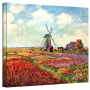 "ArtWall ""Windmill"" Gallery Wrapped Canvas Arts By Claude Monet"