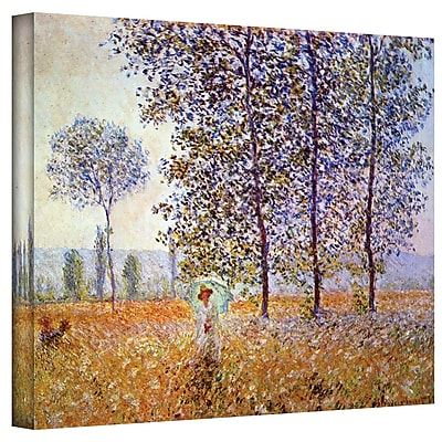 "ArtWall ""Poplars"" Gallery Wrapped Canvas Art By Claude Monet, 36"" x 48"" (0MON010A3648W)"
