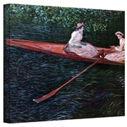 "ArtWall ""Canoe"" Gallery Wrapped Canvas Arts By Claude Monet"